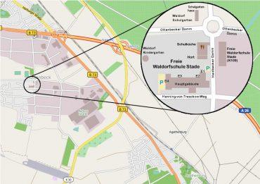Anfahrt Waldorfschule Stade