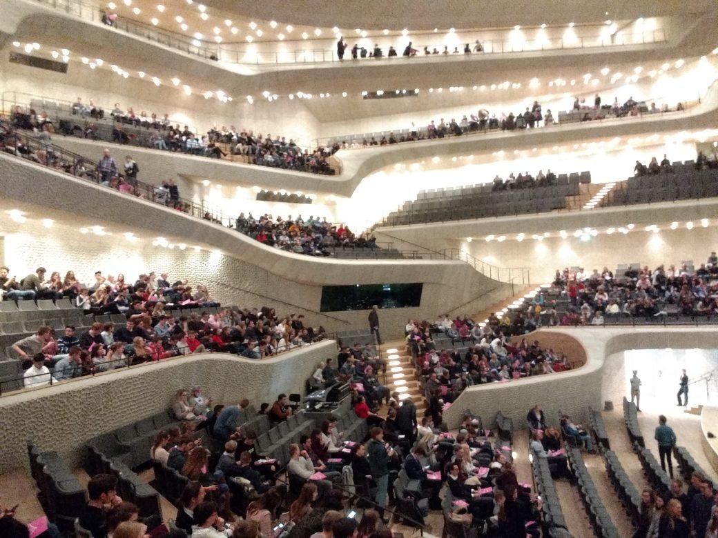 Blick in den Großen Saal der Elbphilharmonie